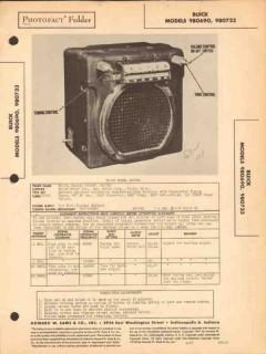 buick models 980690 980733 am car radio receiver sams photofact manual