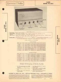 clark model pa-20a 7 tube audio amplifier sams photofact manual