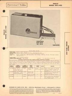 philco model un6-450 am car radio receiver sams photofact manual