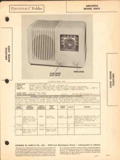 aircastle model 5002 6 tube am radio receiver sams photofact manual