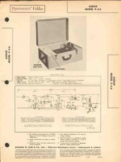 audar model p-4a phonograph record player sams photofact manual