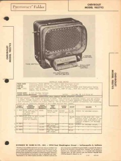 chevrolet model 985793 am car radio receiver sams photofact manual