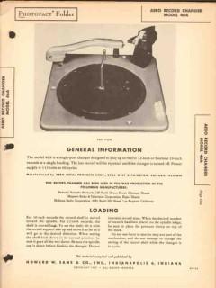 aero model 46a phonograph record changer sams photofact manual