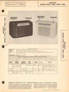 aircastle model 500x 5 tube am radio receiver sams photofact manual