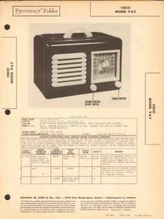 cisco model 9a5 5 tube am radio receiver sams photofact manual