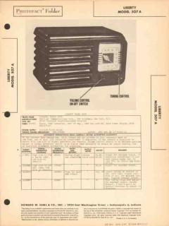 liberty model 507a 5 tube am radio receiver sams photofact manual