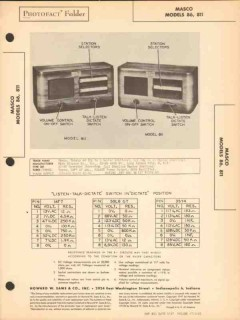 masco model 86 811 intercom system master sub sams photofact manual