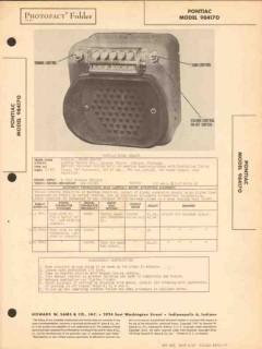 pontiac models 984170 am car radio receiver sams photofact manual
