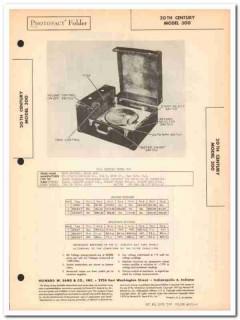 20th century model 300 ac-dc phonograph 3 tubes sams photofact manual