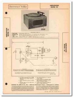 ampliphone model 20 1-tube phonograph player sams photofact manual