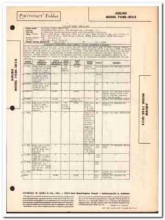 airline model 74br-1812b am fm radio receiver sams photofact manual