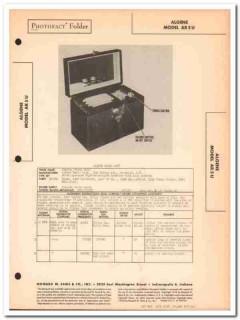 algene model ar5u ac-dc 5-tube am radio receiver sams photofact manual