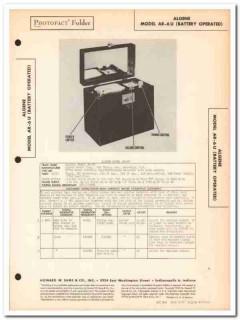 algene model ar6u ac-dc 6-tube am radio receiver sams photofact manual