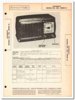 automatic model 601 602 5-tube am radio receiver sams photofact manual