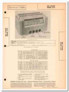 bell sound model 3715 3-channel 7-tube amplifier sams photofact manual