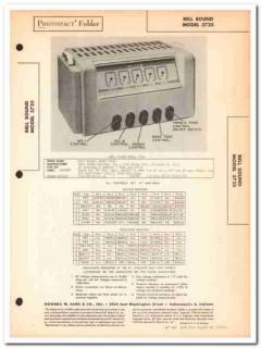 bell sound model 3725 3-channel 7-tube amplifier sams photofact manual