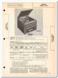 belmont model 5d110 am radio receiver phonograph sams photofact manual