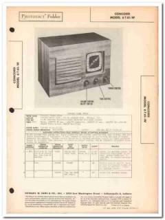 concord model 6t61-w 6-tube am radio receiver sams photofact manual