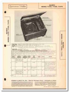 majestic model 7s433 7s450 7s470 am radio phono sams photofact manual