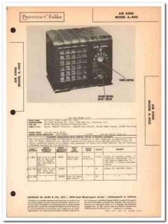 air king model a-400 4-tube am radio receiver sams photofact manual