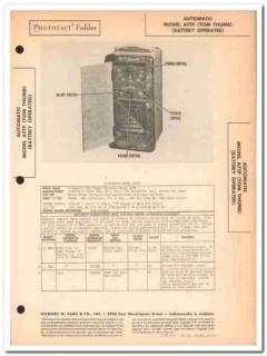 automatic model attp tom thumb am radio receiver sams photofact manual