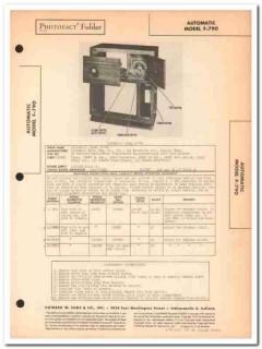 automatic model f-790 9-tube am radio phonograph sams photofact manual