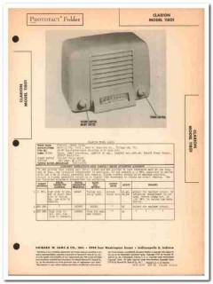 clarion model 11801 5-tube am radio receiver sams photofact manual
