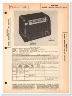 mantola model r664-pm r664-pv r664-w am radio sams photofact manual