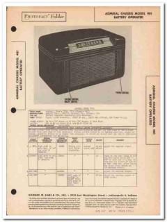 admiral model 7t06 7t12 4-tube am radio receiver sams photofact manual