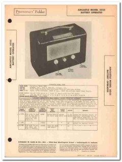 aircastle model 5025 portable am radio receiver sams photofact manual