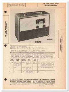 air king model a-510 portable am radio receiver sams photofact manual