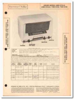 airline model 64br-151xy 74br-151xb am sw radio sams photofact manual
