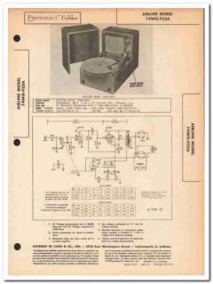 airline model 74wg-925a 3-tube phonograph phono sams photofact manual