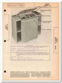 ansley model 53 am fm sw radio receiver phono sams photofact manual