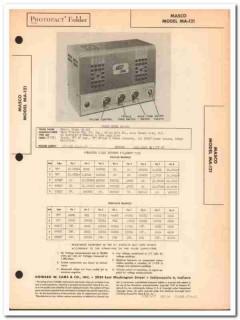 masco model ma-121 2-channel 5-tube amplifier sams photofact manual