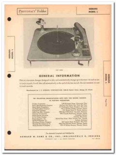 j p seeburg model l automatic 2-post phonograph sams photofact manual