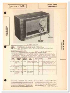 airline model 74wg-1802a 5-tube am radio sams photofact manual