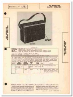 arc model 601 portable 4-tube am radio receiver sams photofact manual