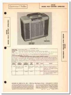 arvin model 140-p ac dc 5-tube am radio receiver sams photofact manual
