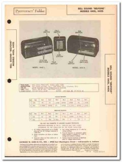 bell sound model 440l 440s belfone intercom sams photofact manual