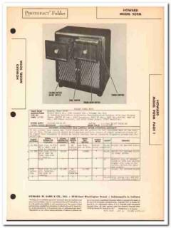 howard model 909m 9-tube am sw radio phonograph sams photofact manual