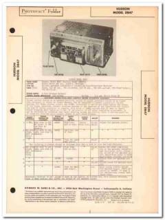 hudson model db47 6-tube car am radio receiver sams photofact manual