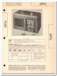 mantola model 24b6 am 6-tube am radio receiver sams photofact manual