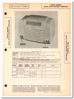 philco model 48-141 48-145 am radio receiver sams photofact manual