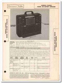 admiral model 7p32 7p33 7p34 am radio receiver sams photofact manual