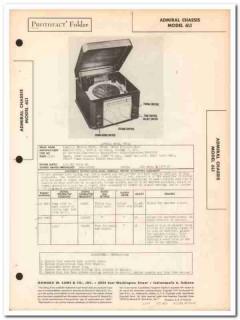 admiral model 7r41 7r42 7r43 am radio phonograph sams photofact manual