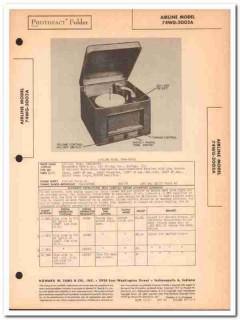 airline model 74wg-2002a am radio phonograph sams photofact manual