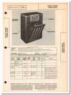 airline model 74wg-2709a am sw radio phonograph sams photofact manual