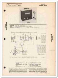 audar model mas-4 2-channel bingo amplifier sams photofact manual