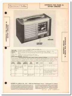 automatic model tom thumb jr portable am radio sams photofact manual